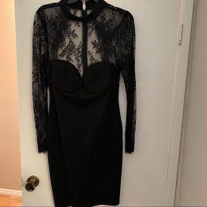 Black Fashion Nova Long Sleeve Dress
